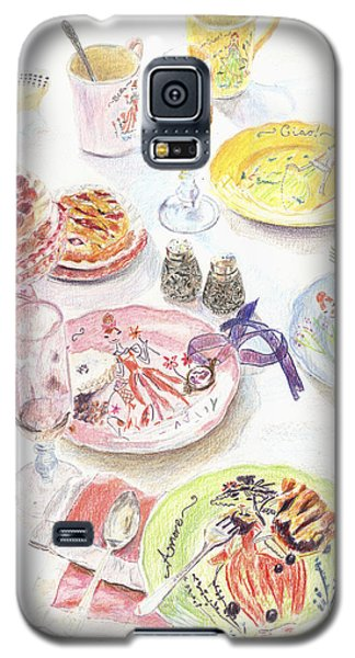 Galaxy S5 Case featuring the drawing Thats Amore by Beth Saffer