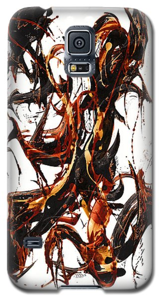 Galaxy S5 Case featuring the painting The Art Of Languishing Liquidly Well  22.120110 by Kris Haas