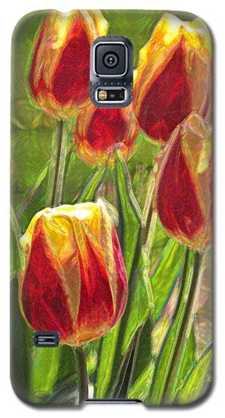 Galaxy S5 Case featuring the photograph The Artful Tulips by Nancy De Flon