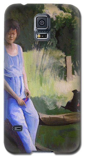 The Artist's Wife With Jasper Galaxy S5 Case