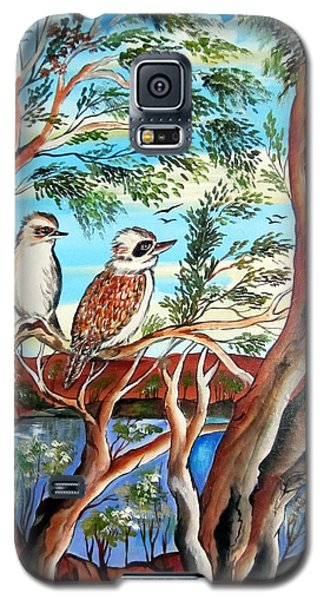 Galaxy S5 Case featuring the painting The Bandit Kookaburra by Roberto Gagliardi