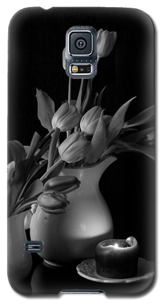 Galaxy S5 Case featuring the photograph The Beauty Of Tulips In Black And White by Sherry Hallemeier