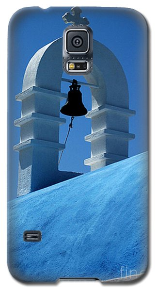 Galaxy S5 Case featuring the photograph The Bell Tower In Mykonos by Vivian Christopher