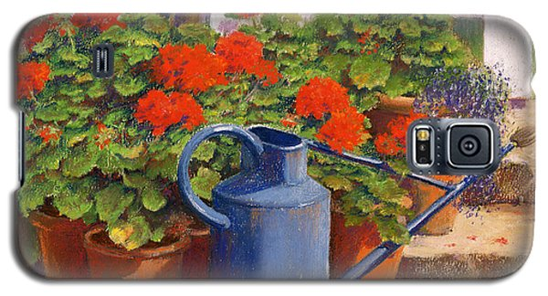 Garden Galaxy S5 Case - The Blue Watering Can by Anthony Rule