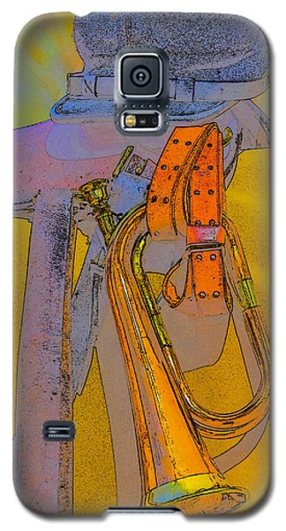Galaxy S5 Case featuring the photograph The Bugler by Marta Cavazos-Hernandez