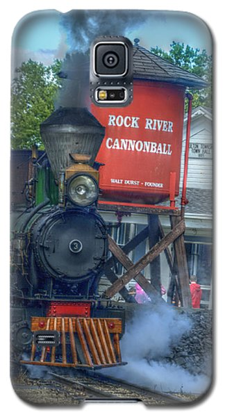 Galaxy S5 Case featuring the photograph The Cannonball Express by Janice Adomeit