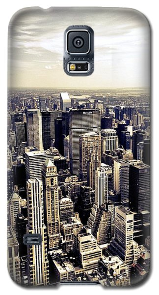 The Chrysler Building And Skyscrapers Of New York City Galaxy S5 Case by Vivienne Gucwa