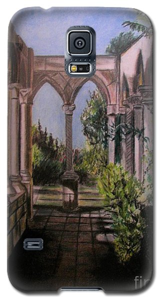 Galaxy S5 Case featuring the painting The Cloisters Colonade by Judy Via-Wolff