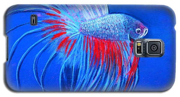 Galaxy S5 Case featuring the mixed media The Closeup by M Diane Bonaparte