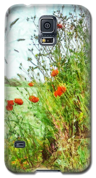 Galaxy S5 Case featuring the digital art The Edge Of The Field by Steve Taylor