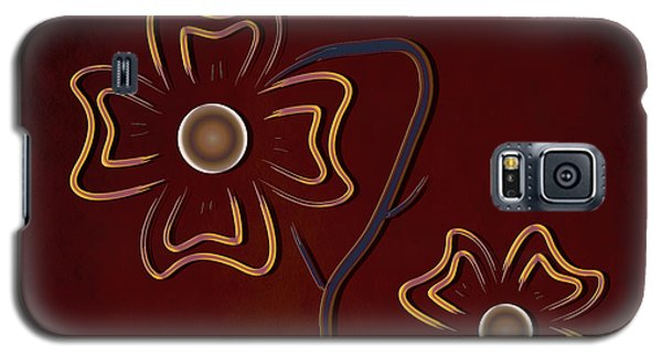 Galaxy S5 Case featuring the digital art The Flowers  by Milena Ilieva