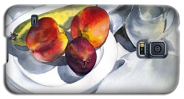Galaxy S5 Case featuring the painting The French Breakfast by Sandra Phryce-Jones