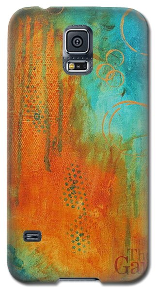 Galaxy S5 Case featuring the painting The Garden by Nicole Nadeau