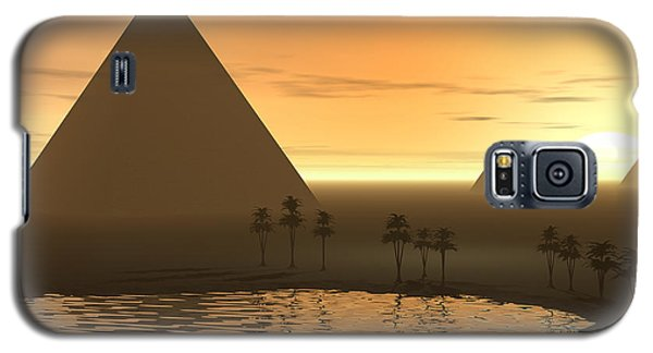 Galaxy S5 Case featuring the digital art The Giza Necropolis by Phil Perkins