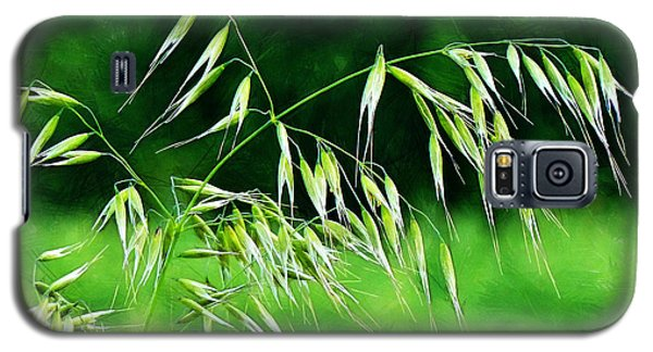 Galaxy S5 Case featuring the photograph The Grass Seeds by Steve Taylor