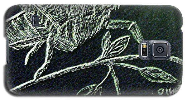Galaxy S5 Case featuring the drawing The Grasshopper by Maria Urso