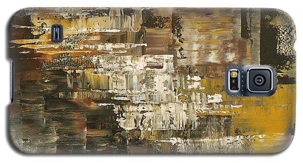 Galaxy S5 Case featuring the painting The Gravelpit Code by Tatiana Iliina