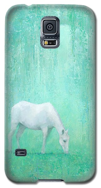 White Horse Galaxy S5 Case - The Green Glade by Steve Mitchell