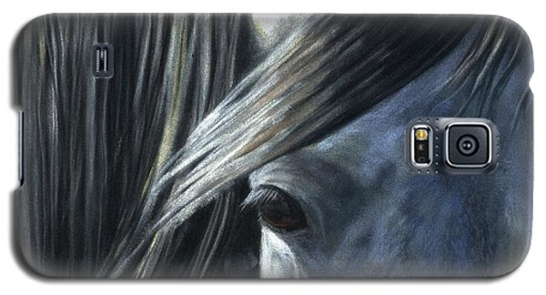 Galaxy S5 Case featuring the painting The Grey by Sheri Gordon