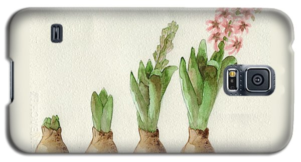 Galaxy S5 Case featuring the painting The Growth Of A Hyacinth by Annemeet Hasidi- van der Leij