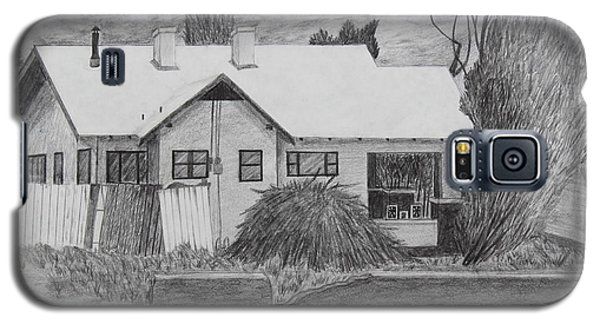 Galaxy S5 Case featuring the drawing The House Across by Kume Bryant