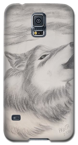 Galaxy S5 Case featuring the drawing The Howler by Maria Urso