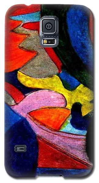 Galaxy S5 Case featuring the mixed media The Indian - Luke At Age 6 by Ray Tapajna
