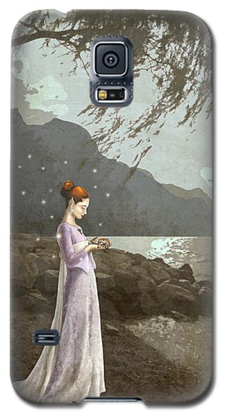 The Lady And The Kitty Antiqued Galaxy S5 Case