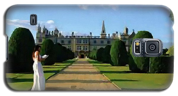 Galaxy S5 Case featuring the painting The Lady Of Burghley House by Jann Paxton