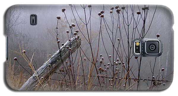 The Old Fence - Blue Misty Morning Galaxy S5 Case by Angie Rea
