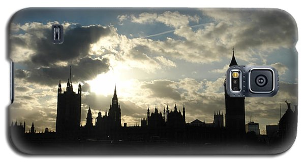 The Outline Of Big Ben And Westminster And Other Buildings At Sunset Galaxy S5 Case
