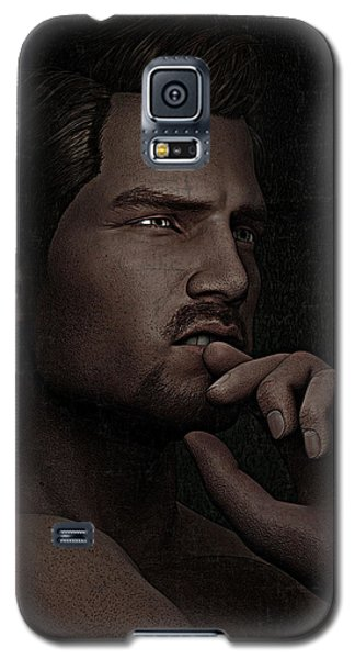 The Pensive Man - Cracked Colour Galaxy S5 Case