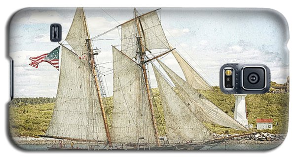 Galaxy S5 Case featuring the photograph The Pride Of Baltimore In Halifax by Verena Matthew