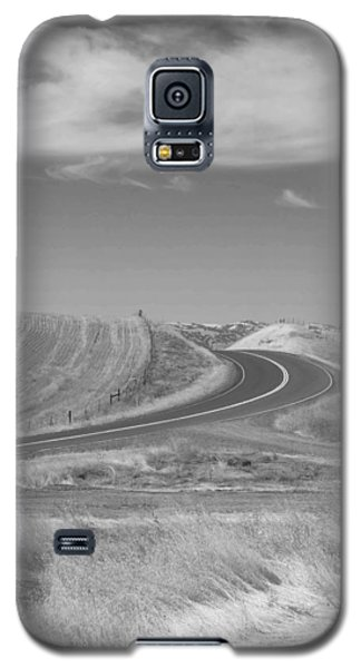 Galaxy S5 Case featuring the photograph The Quiet Road by Kathleen Grace