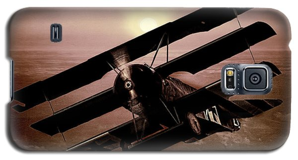 Galaxy S5 Case featuring the photograph The Red Baron's Fokker At Sunset by Chris Lord