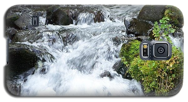 Galaxy S5 Case featuring the photograph The Roadside Stream by Chalet Roome-Rigdon