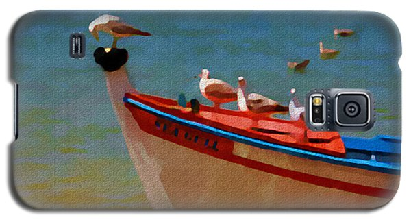 Galaxy S5 Case featuring the painting The Sea Gulls by Jann Paxton