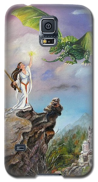 Galaxy S5 Case featuring the painting The Summoning by Lori Brackett