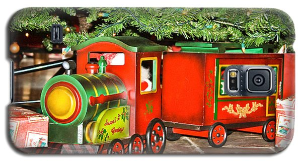 Galaxy S5 Case featuring the photograph The Toy Train by Ann Murphy