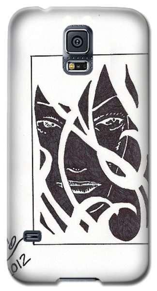 Galaxy S5 Case featuring the drawing The Unkown Woman by Jeremiah Colley
