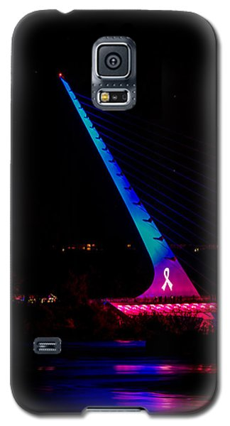 Galaxy S5 Case featuring the photograph Think Pink Sundial by Randy Wood