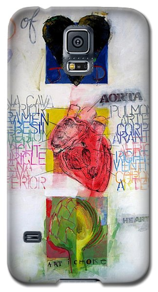 Galaxy S5 Case featuring the painting Three Of Hearts 32-52 by Cliff Spohn
