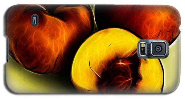 Three Peaches - Yellow Galaxy S5 Case
