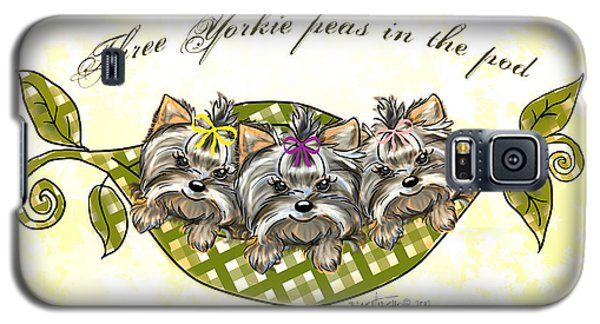 Three Yorkie Peas In The Pod Galaxy S5 Case