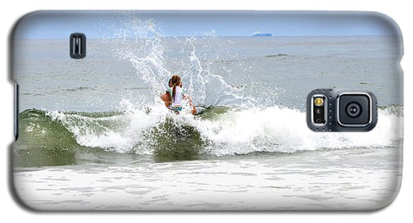 Galaxy S5 Case featuring the photograph Through The Waves by Maureen E Ritter