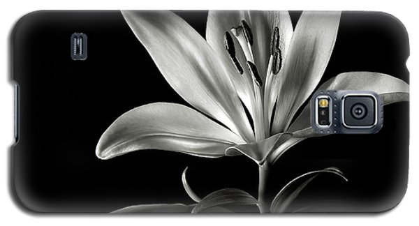 Tiger Lily In Black And White Galaxy S5 Case