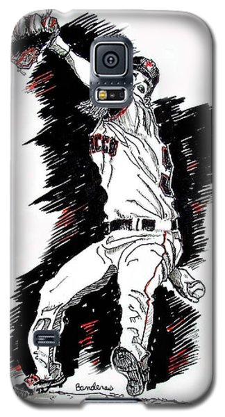 Galaxy S5 Case featuring the painting Tim Lincecum by Terry Banderas