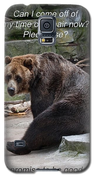 Time Out Bear Galaxy S5 Case by Cindy Haggerty