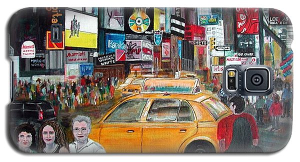 Galaxy S5 Case featuring the painting Times Square by Anna Ruzsan