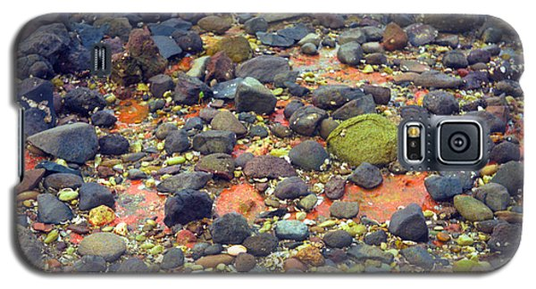 Galaxy S5 Case featuring the photograph Tinopoi Beach Rocks by Mark Dodd